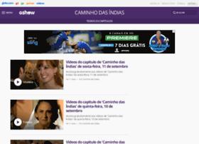 caminhodasindias.globo.com