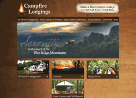 campfirelodgings.com