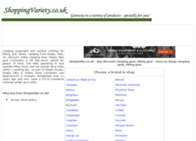 camping-gear-hiking-gear.shoppingvariety.co.uk