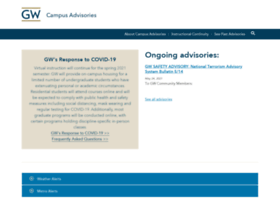 campusadvisories.gwu.edu