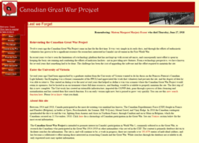 canadiangreatwarproject.com