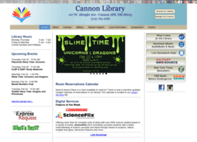 cannonlibrary.org