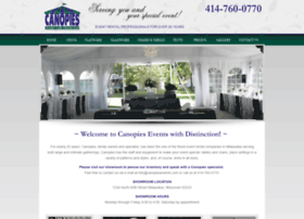 canopiesevents.com