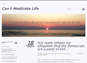 cantmedicatelife.com