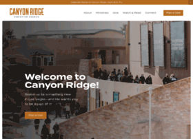 canyonridge.org