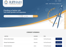 careers.riphah.edu.pk
