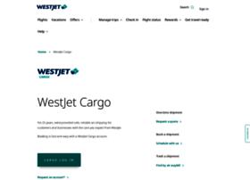 cargo.westjet.com
