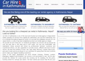carhireinkathmandu.com