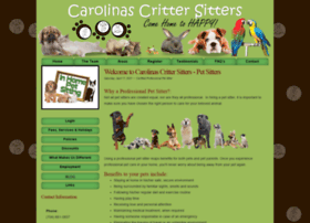 carolinascrittersitters.com