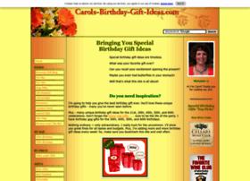 carols-birthday-gift-ideas.com