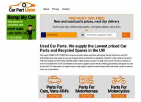 carpartlister.co.uk
