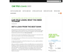 cartitleloanscenter.com