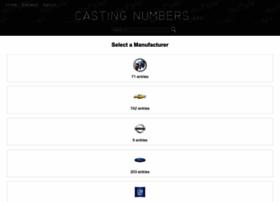 castingnumbers.info