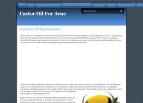 castoroilacne.com