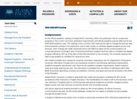 catalog.alaskapacific.edu