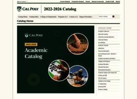catalog.calpoly.edu