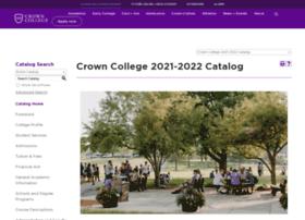 catalog.crown.edu