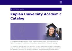 catalog.kaplanuniversity.edu