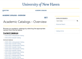 catalog.newhaven.edu