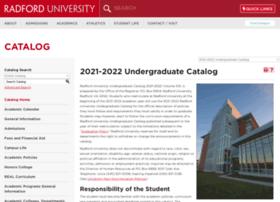 catalog.radford.edu