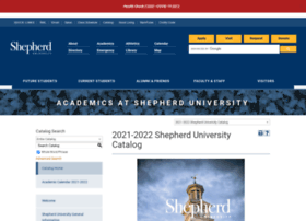 catalog.shepherd.edu