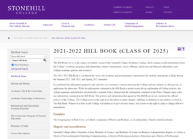 catalog.stonehill.edu
