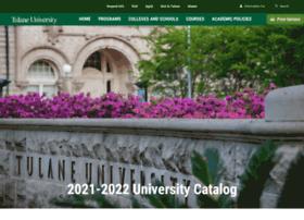 catalog.tulane.edu