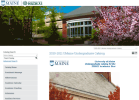 catalog.umaine.edu