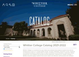 catalog.whittier.edu