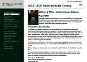 catalog.wm.edu