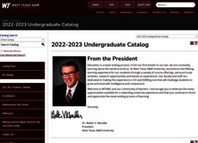 catalog.wtamu.edu