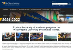 catalog.wvu.edu