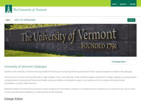 catalogue.uvm.edu