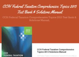 cchfederaltaxationcomprehensivetopics2013.com