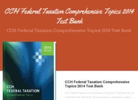 cchfederaltaxationcomprehensivetopics2014.com