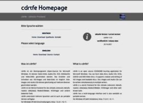 cdrtfe.sourceforge.net