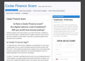 cedarfinancescam.com