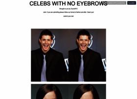 celebswithnoeyebrows.com