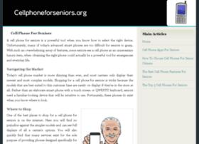 cellphoneforseniors.org