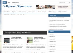cellphonesignatures.com