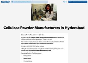 Cellulosepowdermanufacturer.tumblr.com