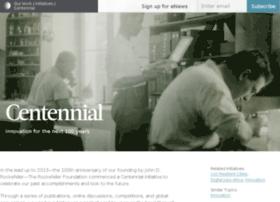 centennial.rockefellerfoundation.org