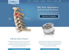 centerforartificialdiscreplacement.com