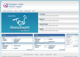 ceredigionladiesfootballleague.co.uk