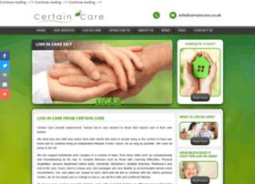 certaincare.co.uk
