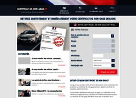 certificat-de-non-gage.fr