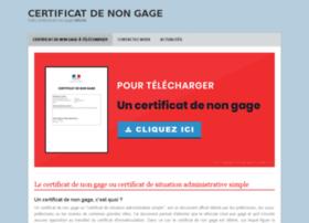 certificatdenongage.com