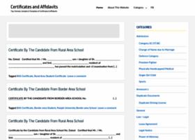 certificates-affidavits.com