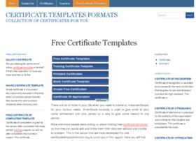 certificatetemplatesformats.org