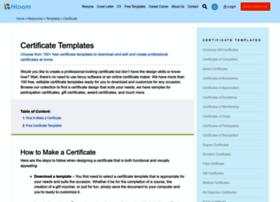 certificatetemplatesonline.com